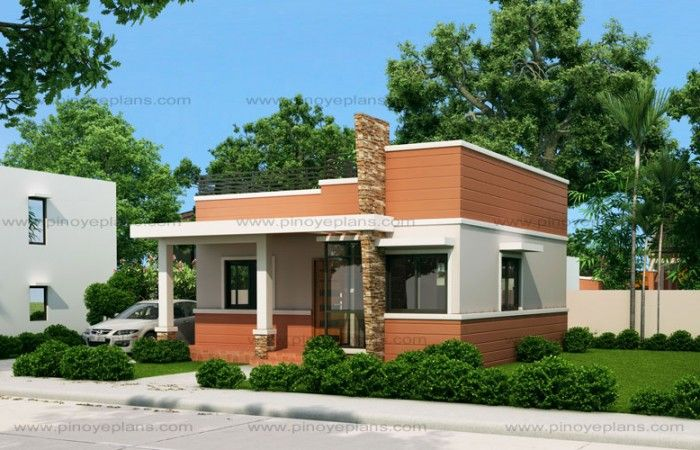 Rommell One Storey Modern With Roof Deck Pinoy Eplans Flat Roof House Small House Design House Roof Design