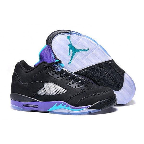 Black · 2016 discount air jordan 5 retro low black grape black new emerald  grape ice basketball shoes
