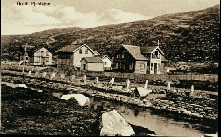 Oppland fylke Skjåk kommune Grotli Fjeldstue tidlig 1900-tall