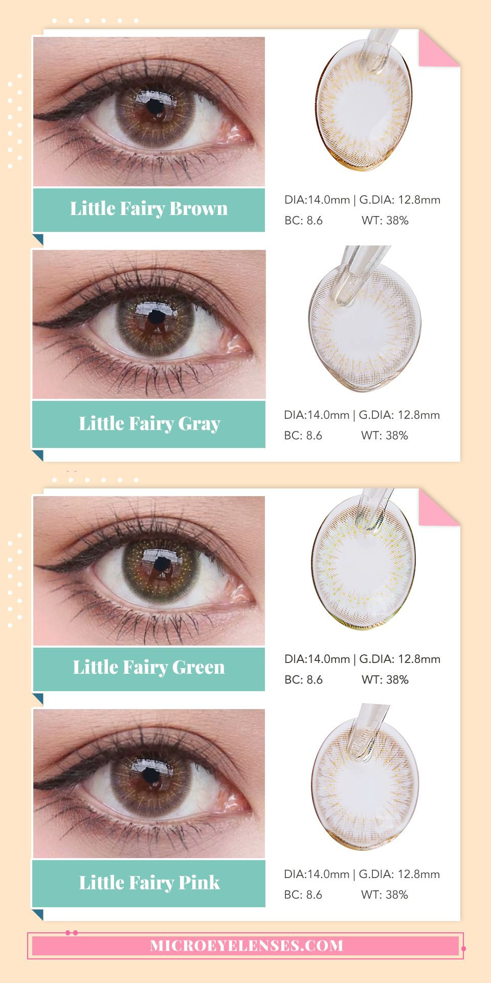 Microeyelenses Com Little Fairy Series Party Colored Contacts Lens Microeyelenses Microeyelensescom Contactlenses Circlecontactlenses Be カラーコンタクト カラー カラコン
