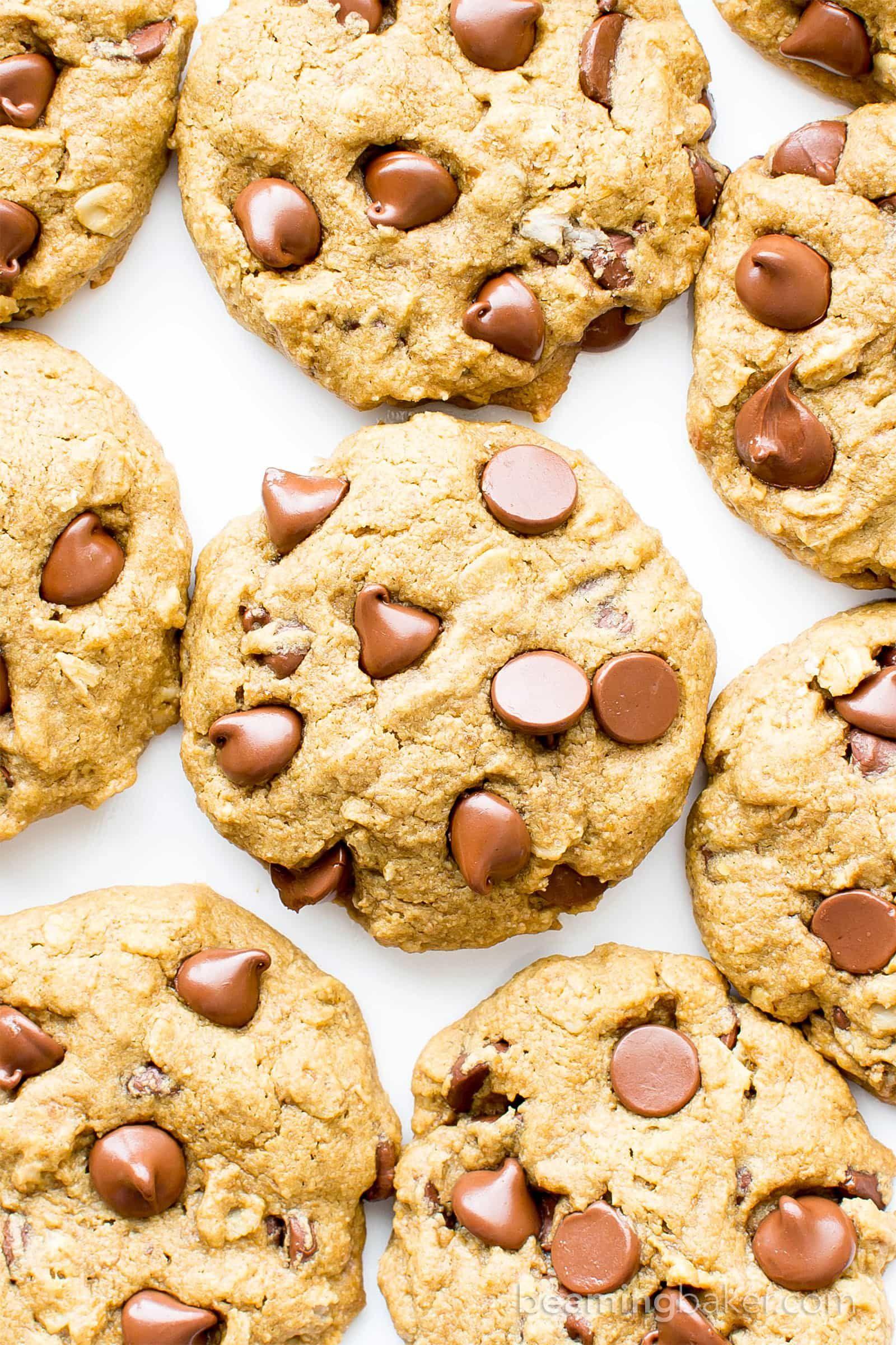 Gluten Free Vegan Oat Flour Chocolate Chip Cookies V Gf An