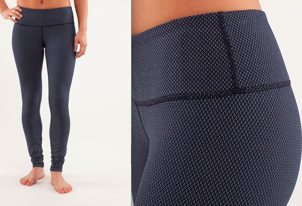 55356d624aa33 Lululemon Wunder Under Pant Size 6 Diamond Dot Black White Print Legging  Yoga #Lululemon #PantsTightsLeggings
