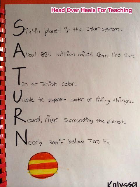 classroom solar system poem - photo #24