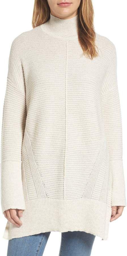 944d81e7e Caslon Ribbed Turtleneck Tunic Sweater
