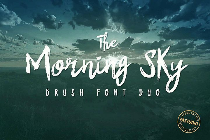 The Morning Sky Font Duo Best Script Fonts Free Fonts Download