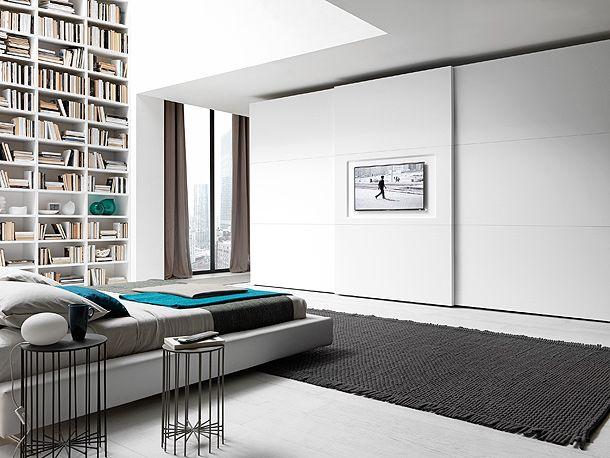 paneles con tv | camera da letto | Pinterest | Armadio, Arredamento ...