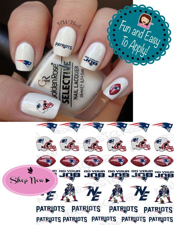 New England Patriots Nail Decals by NWDesignStudio on Etsy   bryeann ...