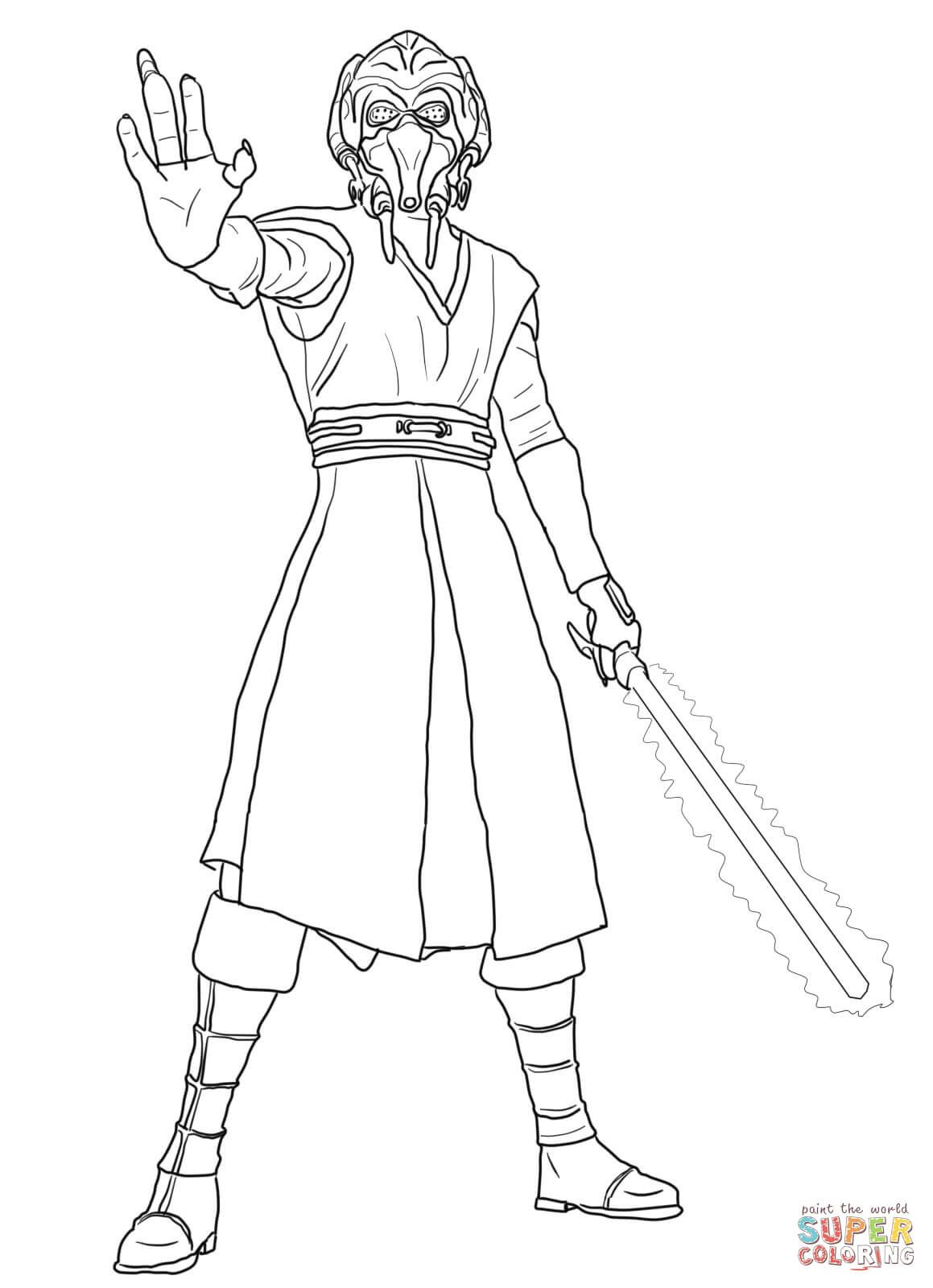 Star Wars Clone Wars Coloring Pages Jedi. Plo Koon coloring page from Revenge of the Sith category  Select 25238 printable crafts cartoons nature animals Bible and many more Super Coloring LineArt Star Wars Pinterest Craft
