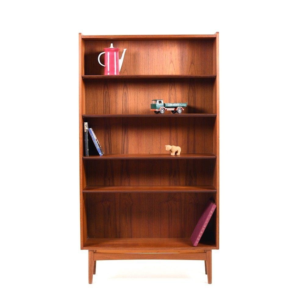Mid Century Danish Bookshelf Cabinet In Teak Bookshelf Cabinet