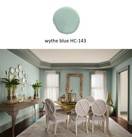 Benjamin Moore 2012 Color Of The Year Wythe Blue I Used This From ColorsDining Room