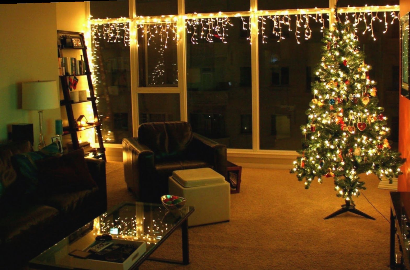 Christmas Lights Living Room Apartments Merrychris