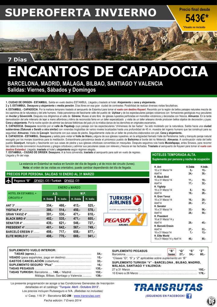 Encantos de CAPADOCIA ¡¡Superoferta Invierno: 10 Enero a 31 Marzo!! precio final dde 543€ ultimo minuto - http://zocotours.com/encantos-de-capadocia-superoferta-invierno-10-enero-a-31-marzo-precio-final-dde-543e-ultimo-minuto/