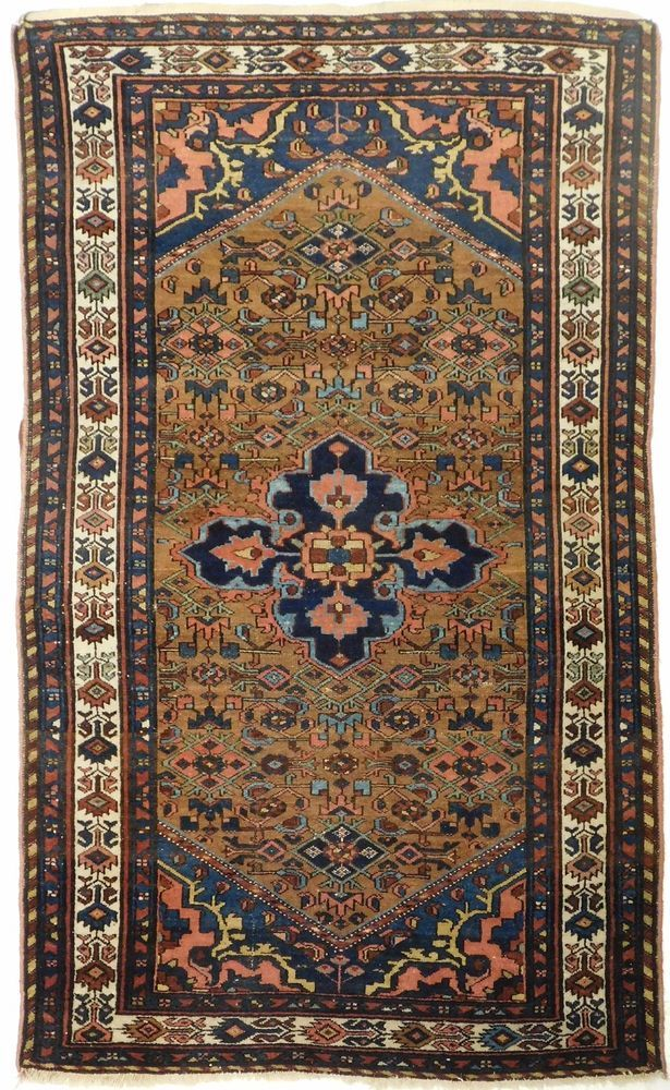 E Up Your Living With This Fine Hand Knotted Persian Malayer Rug Featuring A Geometric Central Medallion On Herati Field Within Spandrells