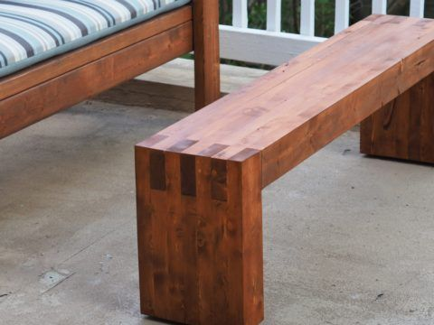 Awe Inspiring Modern 2X4 Bench Or Coffee Table In 2019 Diy Wood Stain Evergreenethics Interior Chair Design Evergreenethicsorg