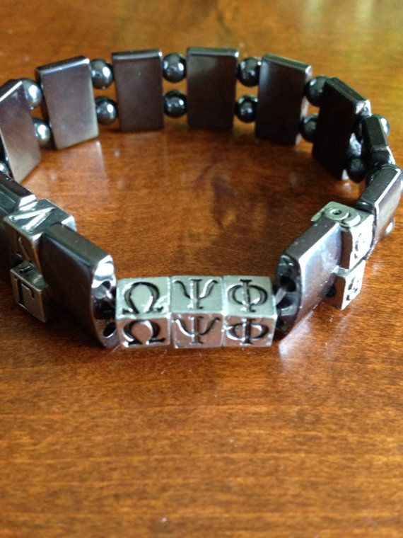 Sy And Masculine Hemae Fraternity Bracelet Available For Diffe Fraternities Personalized With Chapter Initiation