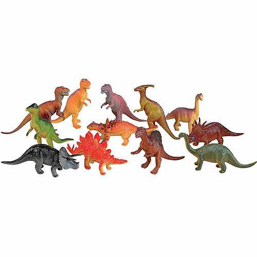8 Piece Jumbo Dinosaur Playset Toy Animals Action Figures Set T Rex Triceratops