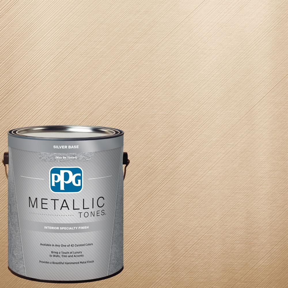 ppg metallic tones 1 gal mtl132 frosted ivory metallic on home depot wall paint colors id=68975