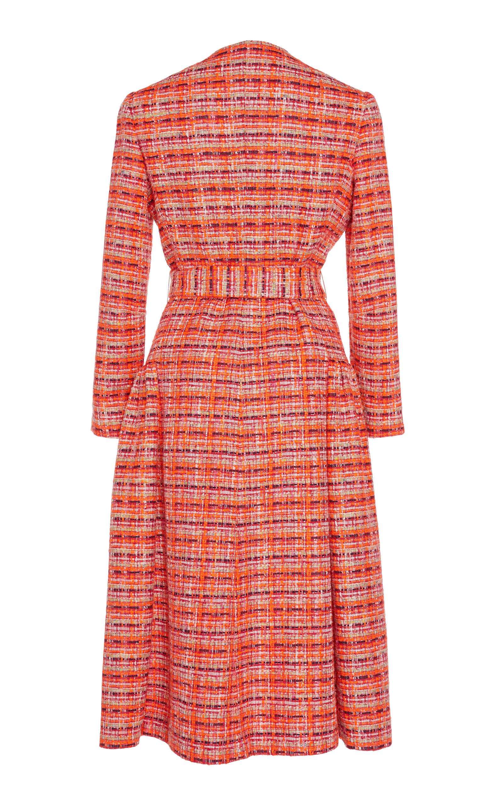 704364748c DELPOZO Gathered Tweed Coat in 2019   Products   Tweed coat, Delpozo ...