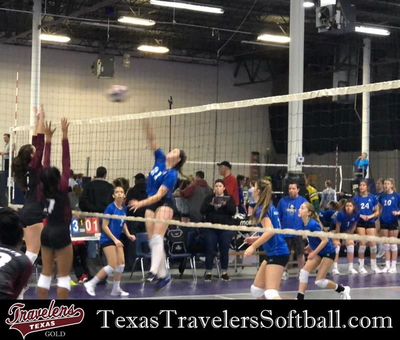 Texas Travelers Gold Pitcher Elizabeth Schaefer Shows Her Force On The Volleyball Court With Her Nati Oklahoma State University Volleyball Team Softball Team