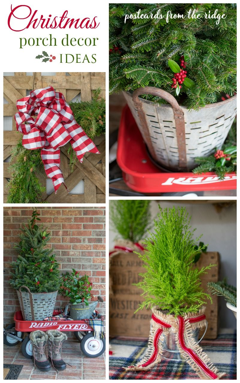 Simple Christmas Front Porch Decorating Ideas Front Porch Christmas Decor Outdoor Christmas Decorations Simple Christmas