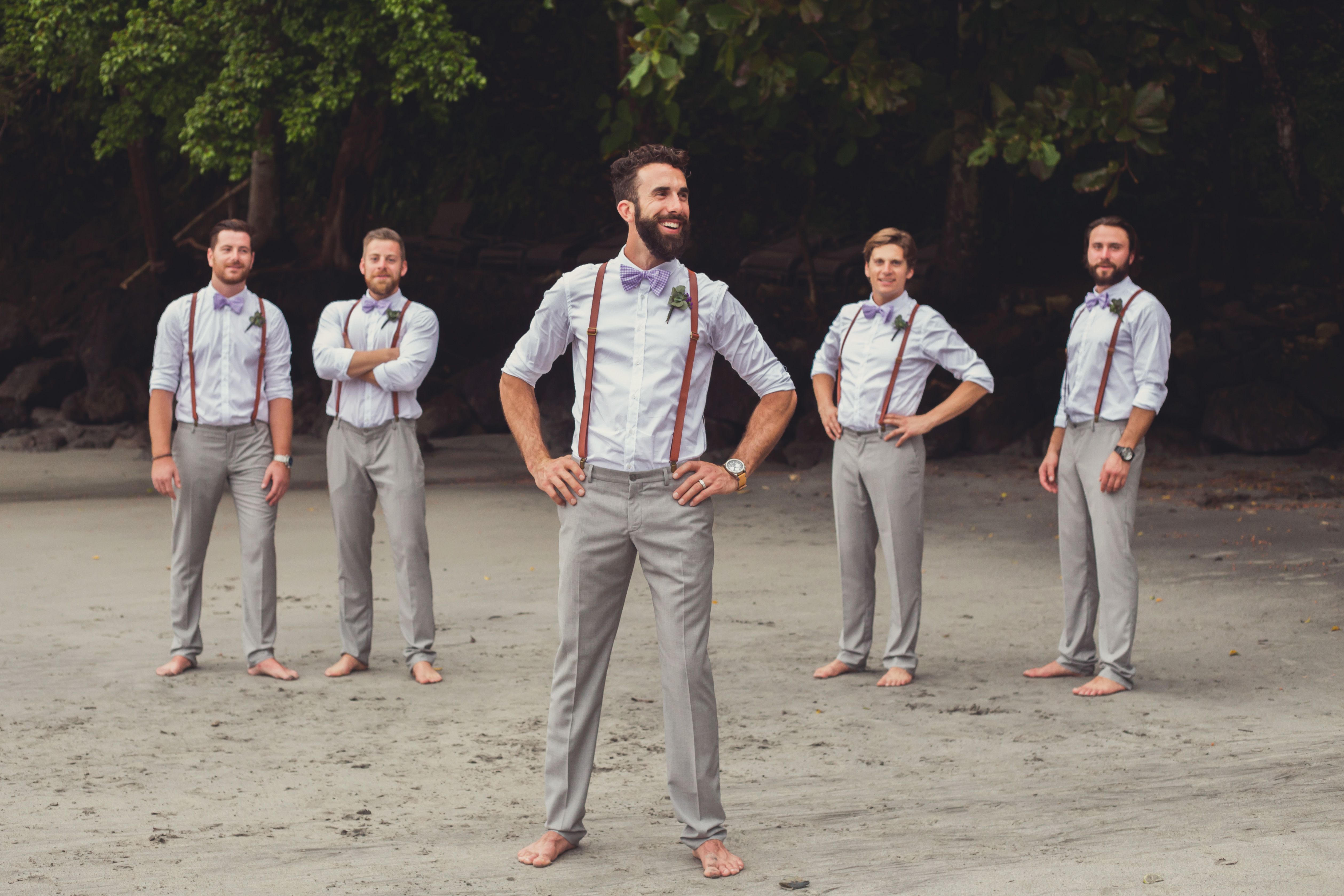 5867d924f7ef 50 Groomsmen in suspender ideas | camping wedding | Beach wedding ...
