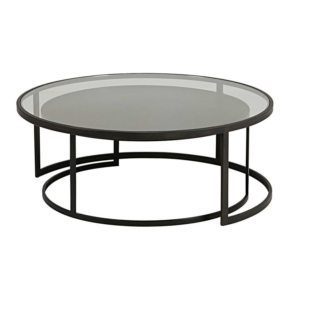 Nesttafels In Getemperd Glas En Zwart Metaal Maisons Du Monde Glass Coffee Table Coffee Table Wood Coffee Table [ 1000 x 1000 Pixel ]