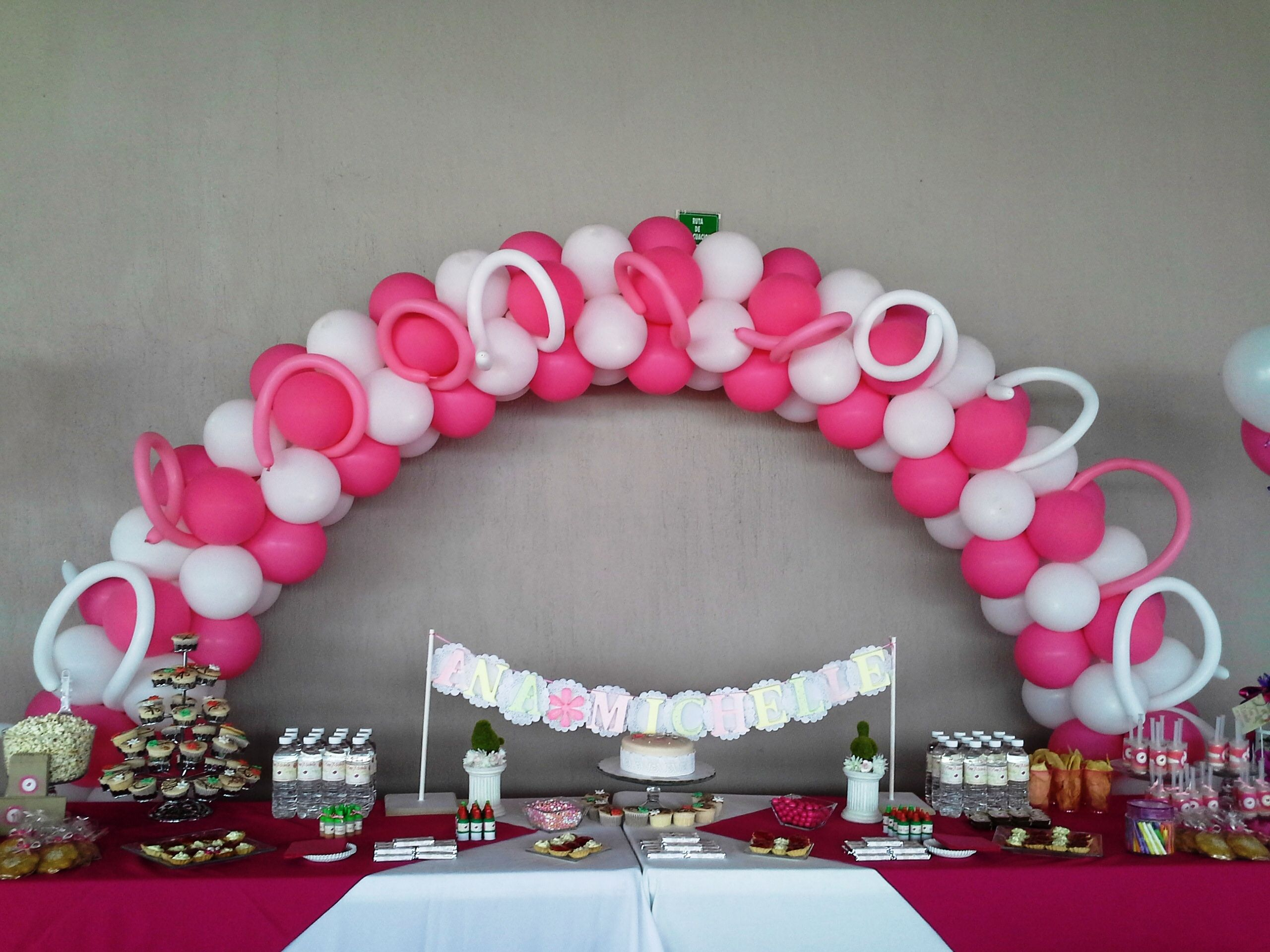 Decoración para bautizo de niña | Pink and White Party | Pinterest