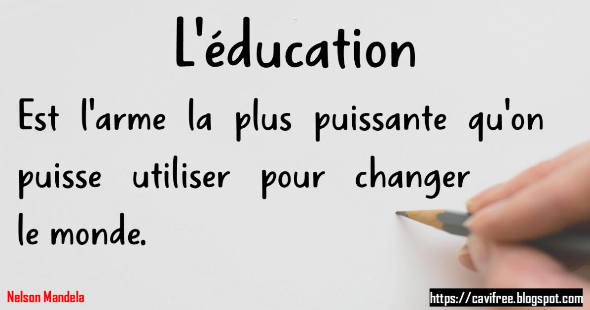 L Education Est L Arme La Plus Puissante Qu On Puisse Utiliser Pour Changer Le Monde Math Math Equations