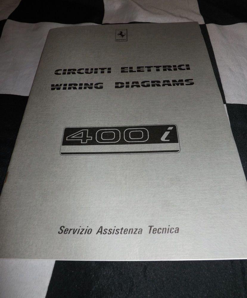 hight resolution of 1983 ferrari 400 i wiring diagrams circuiti elettrici manual brochure handbook