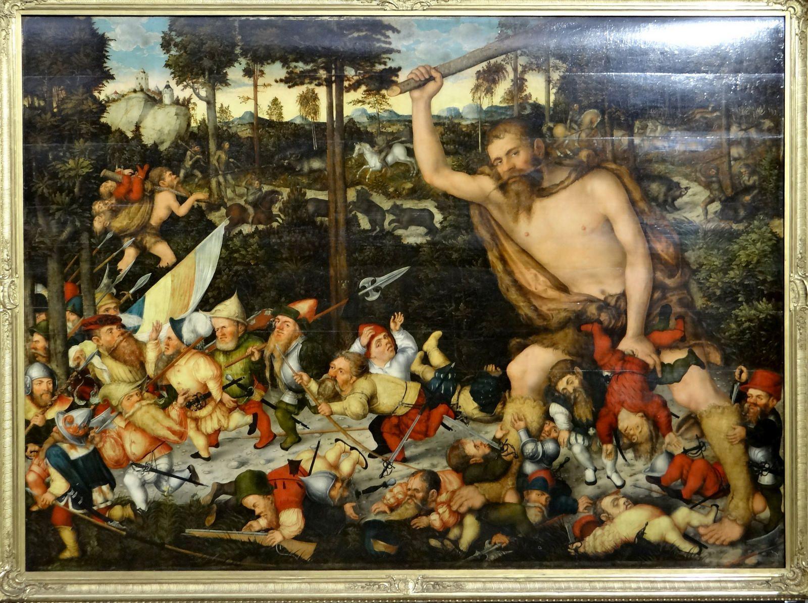 Gemaldegalerie Alte Meister Dresden Lucas Cranach Hercules Lucas