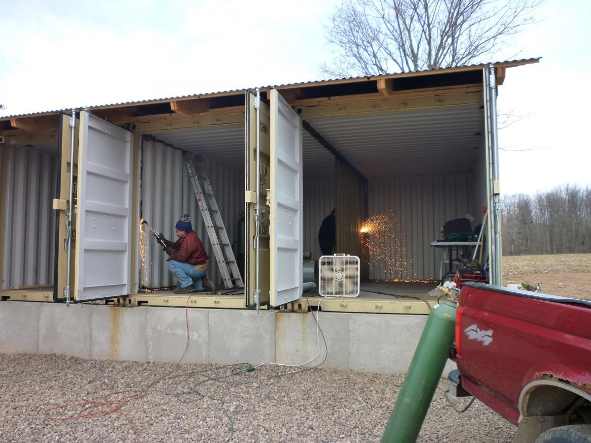 How Much Are Storage Containers In How To Build Tin Can Cabin