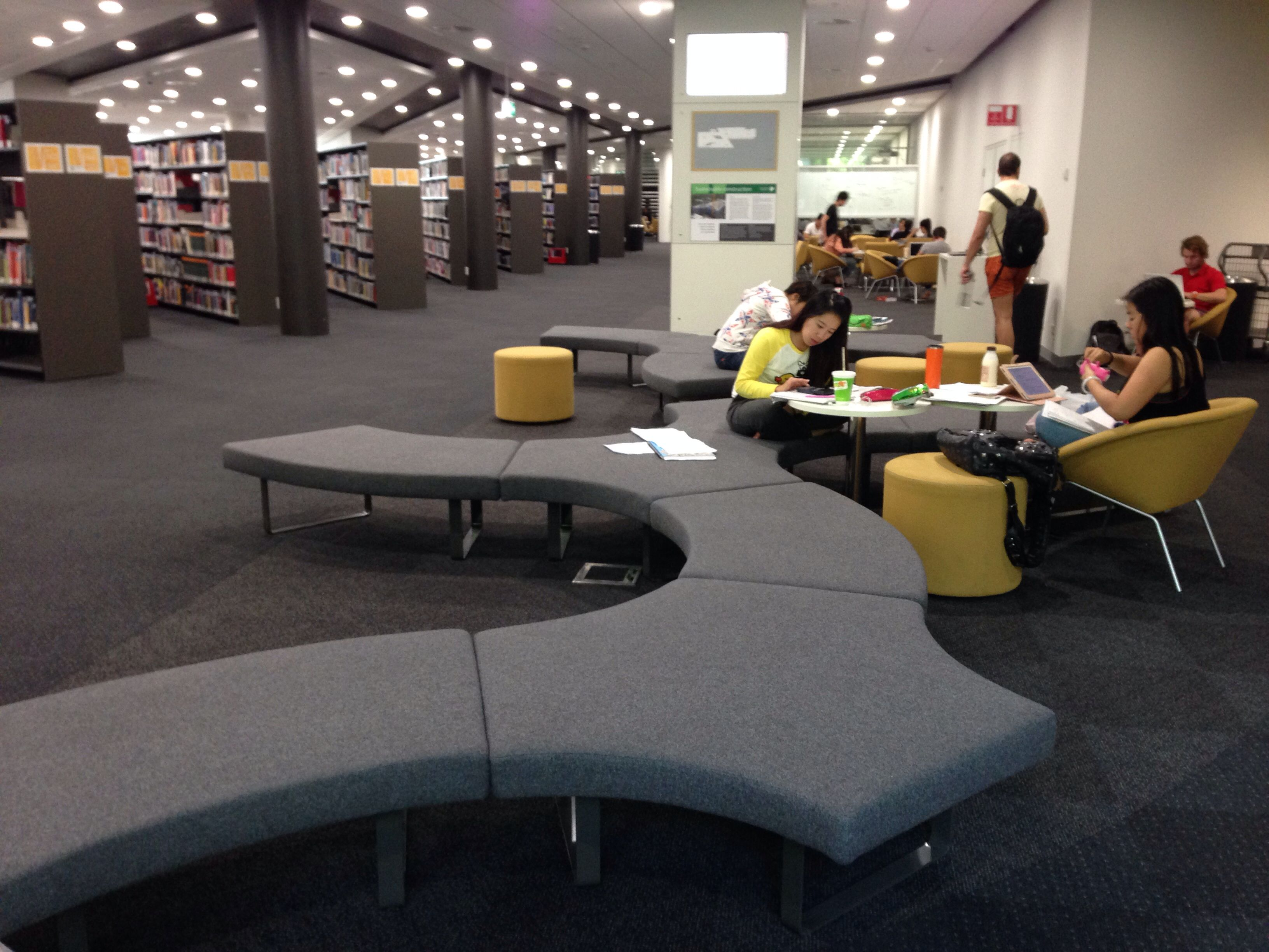 Macquarie university library lounge area library design pinterest lounge areas office - Library lounge chairs ...