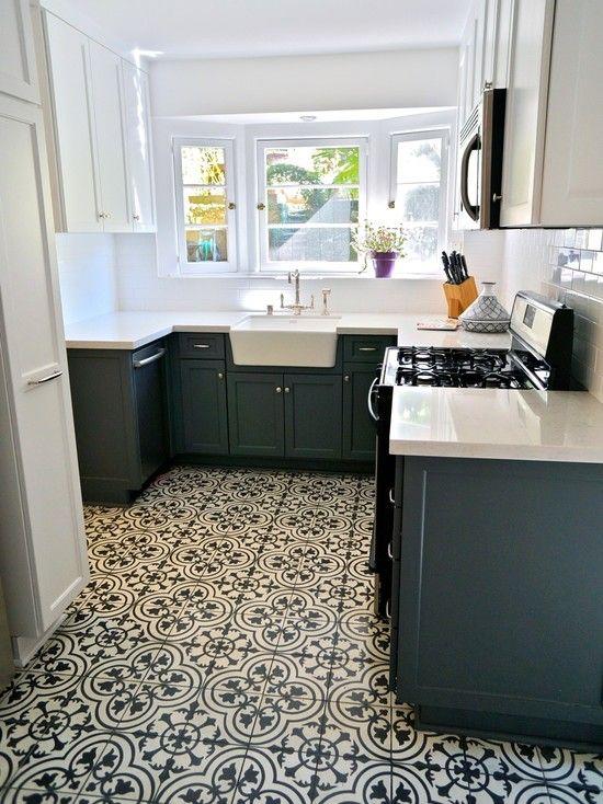 Beautiful Modern Kitchen Design Mosaic Tile Floor Griffith Hacienda Kitchen Design Eclectic Kitchen Kitchen Flooring