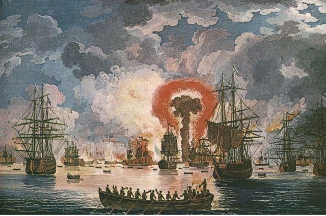 Общее руководство Морейской экспедицией было поручено брату фаворита императрицы Алексею Орлову, который, по некоторым данным, и был реальным автором данного плана.    Командование первой эскадрой экспедиции в составе 7 линейных кораблей, 1 бомбардирского корабля, 1 фрегата и 9 вспомогательных судов было поручено адмиралу Григорию Андреевичу Спиридову, который 6 августа 1769 года повёл корабли к цели. - Русско-Турецкая война 1768-1774 гг. - Статьи - Статьи - КЛАДОВАЯ ИСТОРИИ