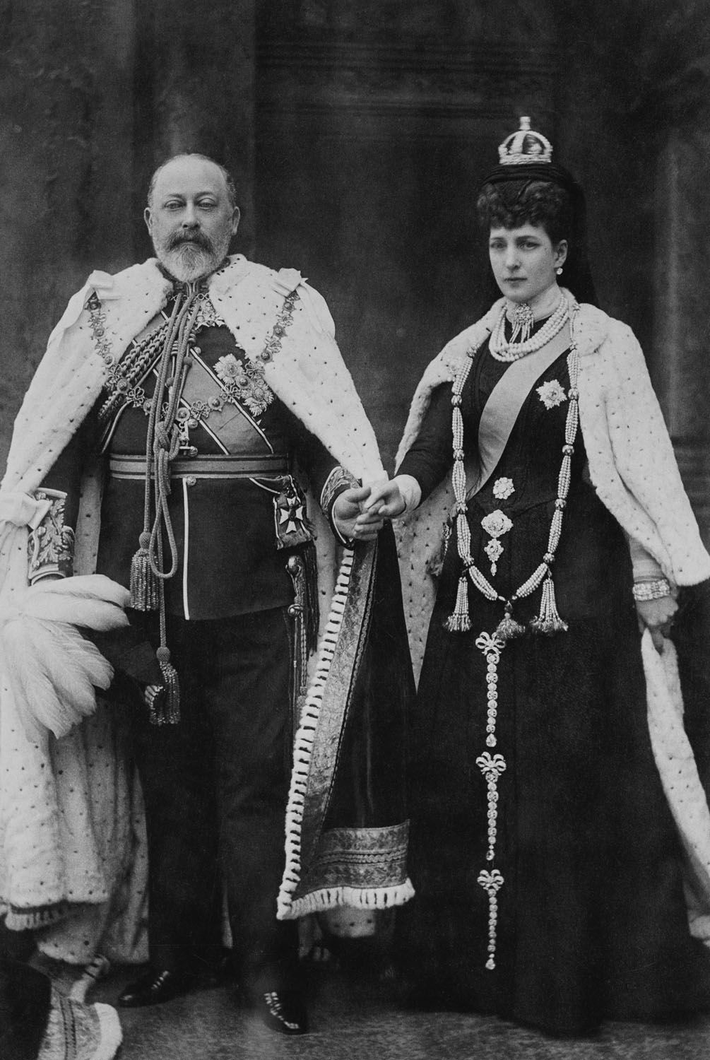 King Edward VII and Queen Alexandra at their first opening ...