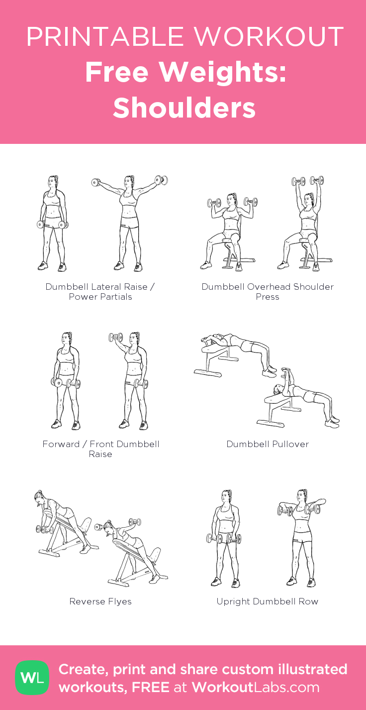 free weights shoulders my visual workout created at workoutlabs