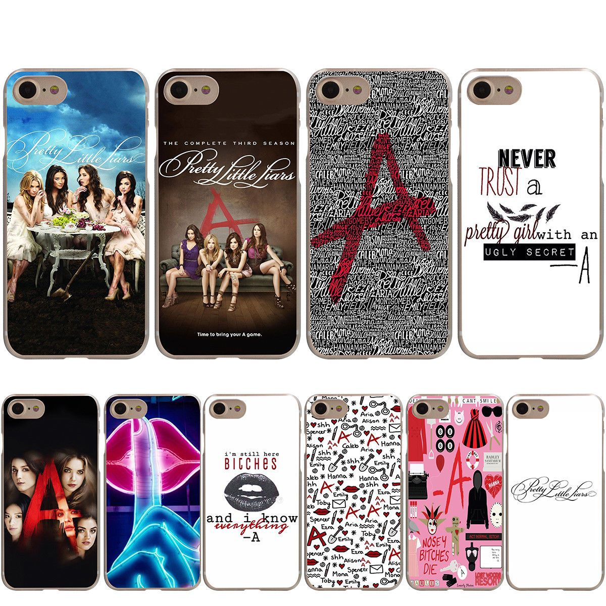 designer fashion f73fe 3b486 Details about Pretty Little Liars Black Soft TPU Case for iPhone XS ...