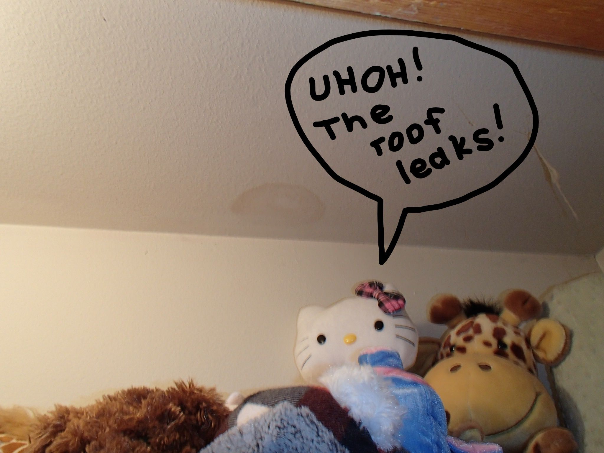 Ceiling stains usually are an indication of problems above