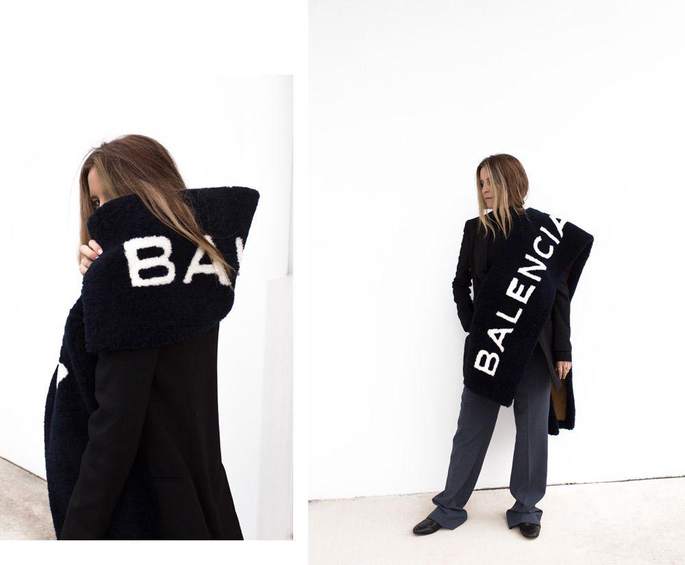 logo shearling scarf Balenciaga Q9nYtKrSUR