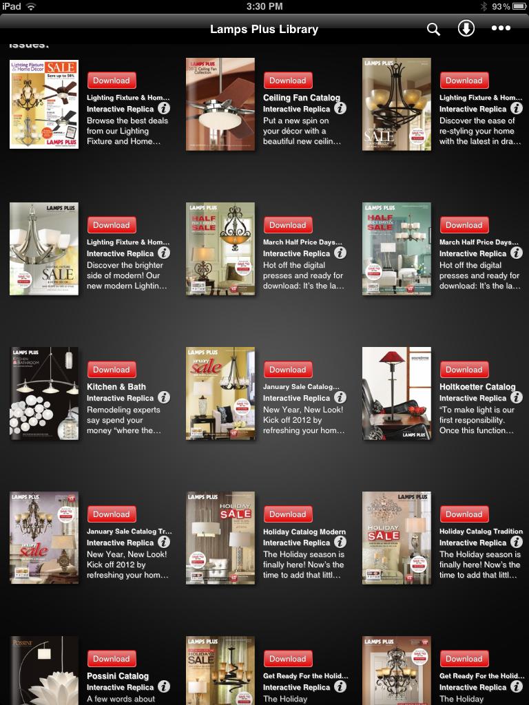 Online interior design - Lamps Plus New iPhone/iPad App