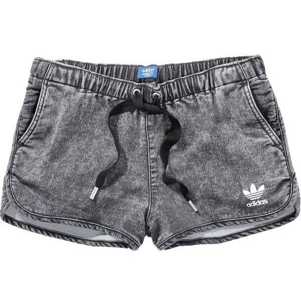 adidas DENIM SHORTS found on Polyvore featuring shorts, bottoms, bottoms  shorts, pants,