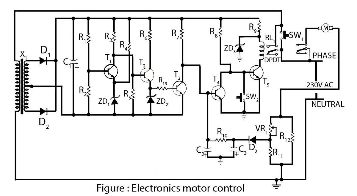 electronics motor controller circuit diagram