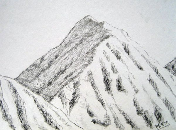 Pencil drawn mountains google search