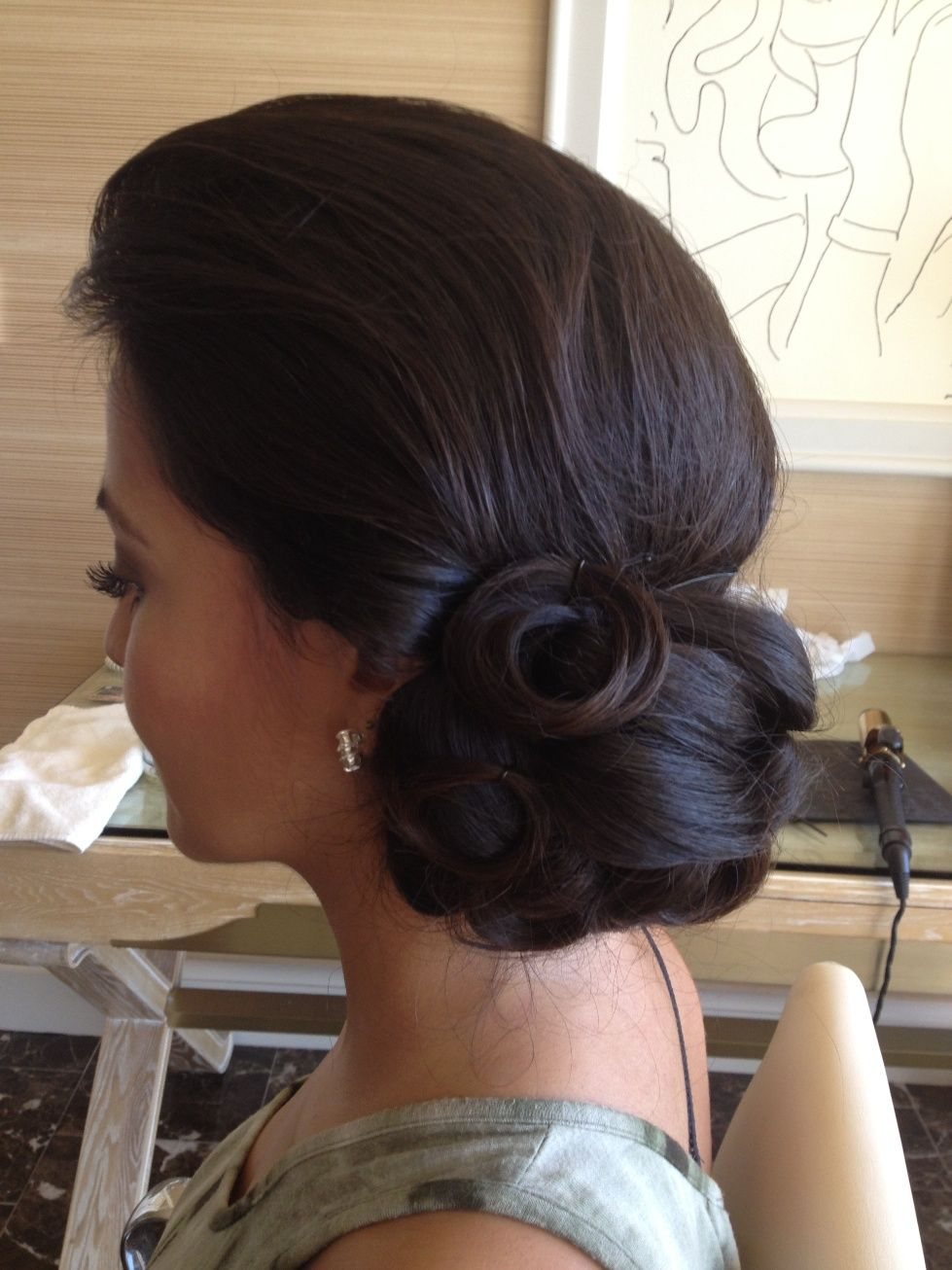 Elegant wedding updo by las vegas wedding hair and makeup artists