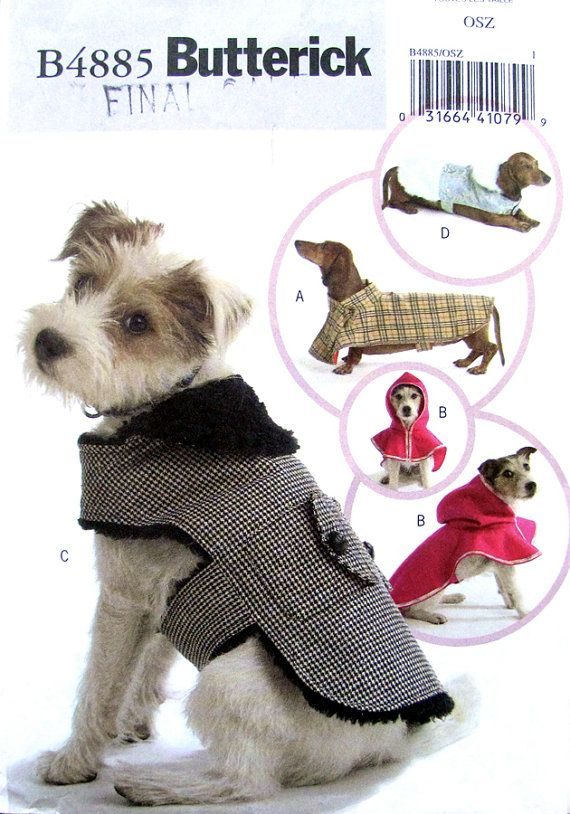 Dog Coat Sewing Pattern Butterick 4885 Uncut By Finickyfinds