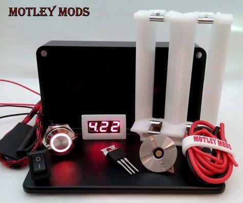 1590B 26650,White   vaping   Diy box mod, Electronic