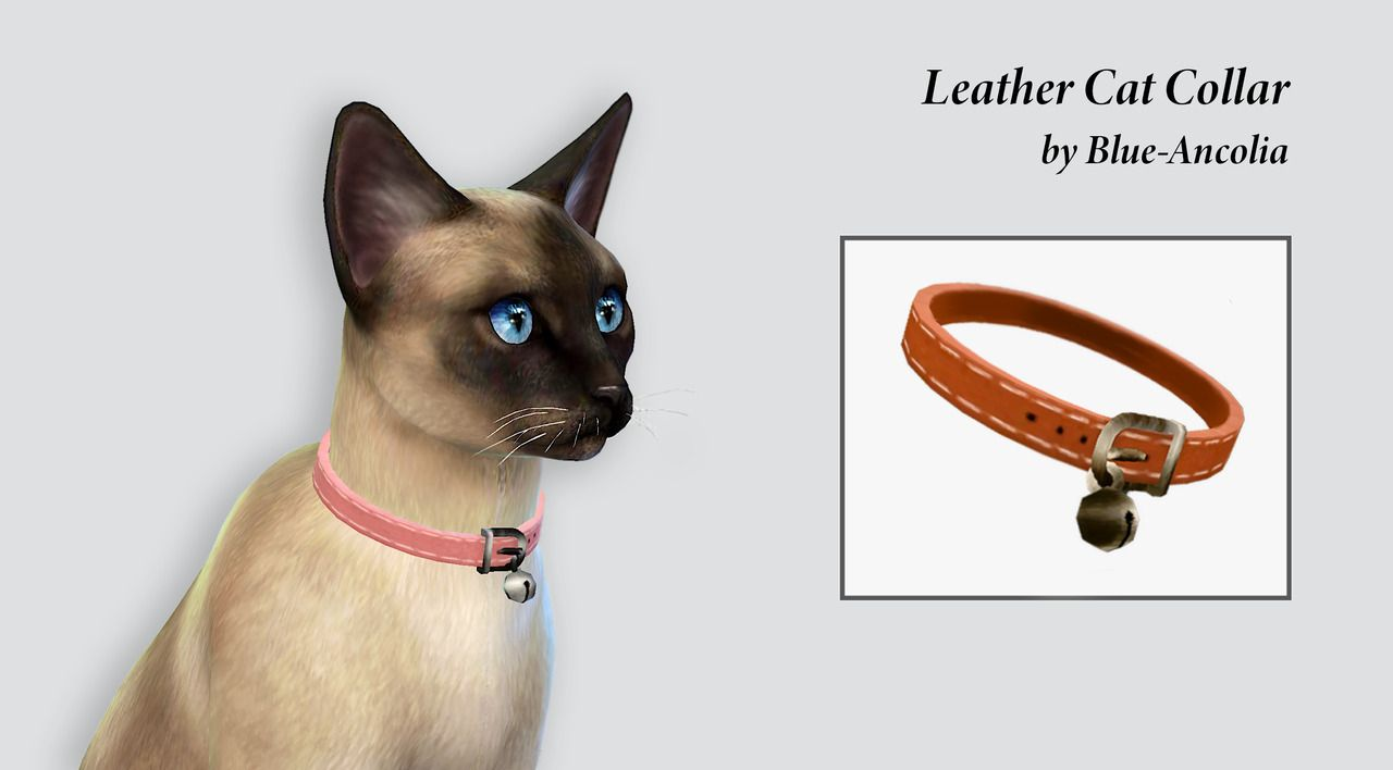 Ea leather cats collar retextured it comes in 8