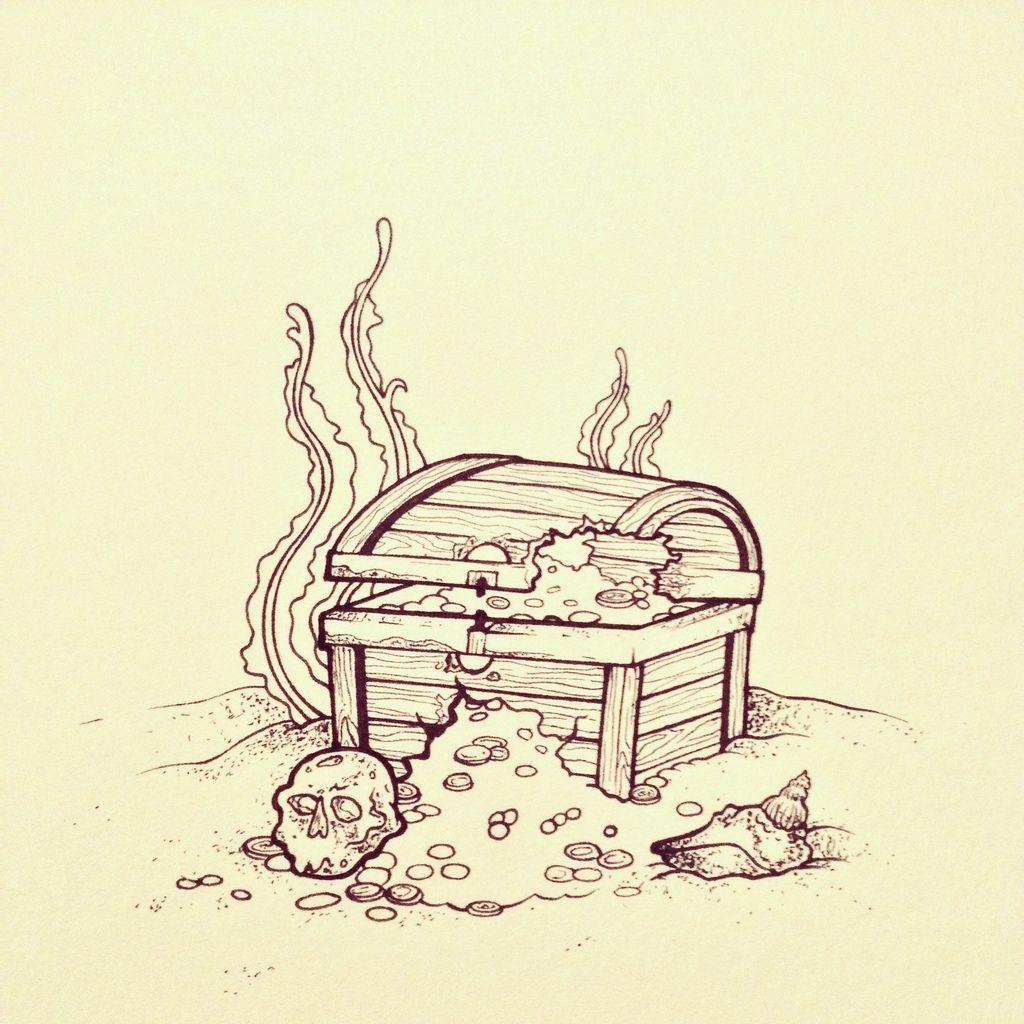 treasure chest tattoo - Cerca con Google | Tattoo ...