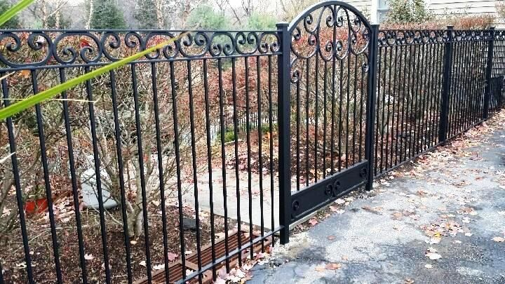 Decorative Wrought Iron Fence And Walk Gate Iron Fence Garden Railings Wrought Iron Gates