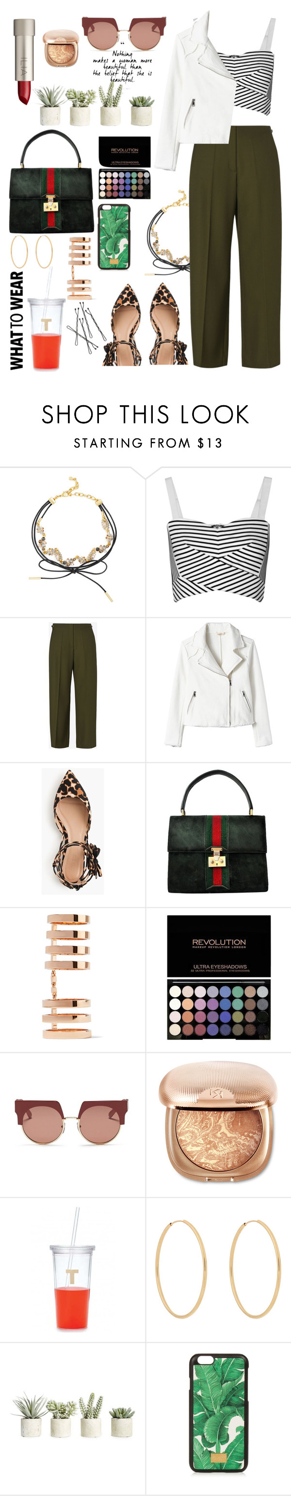 """What to Wear with Flats"" by meli111 on Polyvore featuring BaubleBar, Rebecca Minkoff, Maison Margiela, J.Crew, Gucci, Repossi, Ilia, Marni, Kate Spade and Loren Stewart"